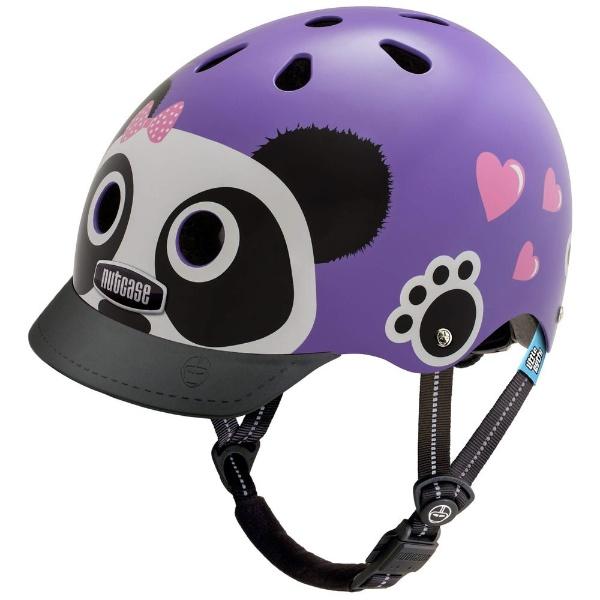 【送料無料】 NUTCASE 子供用ヘルメット Little Nutty(パープルパンダ/XSサイズ:48~52cm)