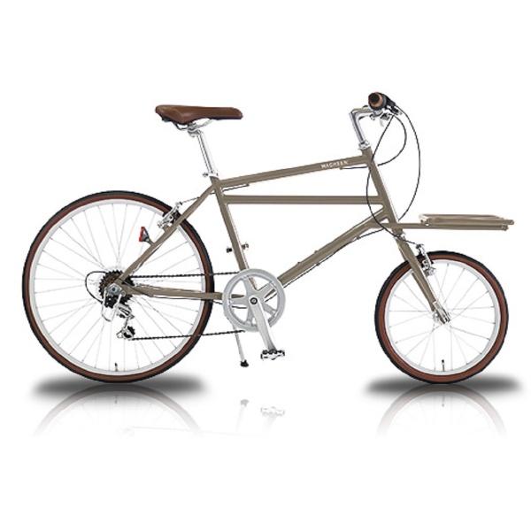 【送料無料】 WACHSEN 16/24型 自転車 カーゴバイク Nicot(ベージュ/6段変速) WBG-2401-BG【2018年モデル】【組立商品につき返品不可】 【代金引換配送不可】