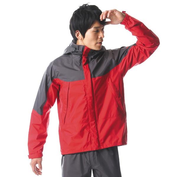【送料無料】 ミズノ メンズ レインウェア ベルグテックEXストームセイバーVI レインスーツ(XLサイズ/レッド) A2MG8A0162