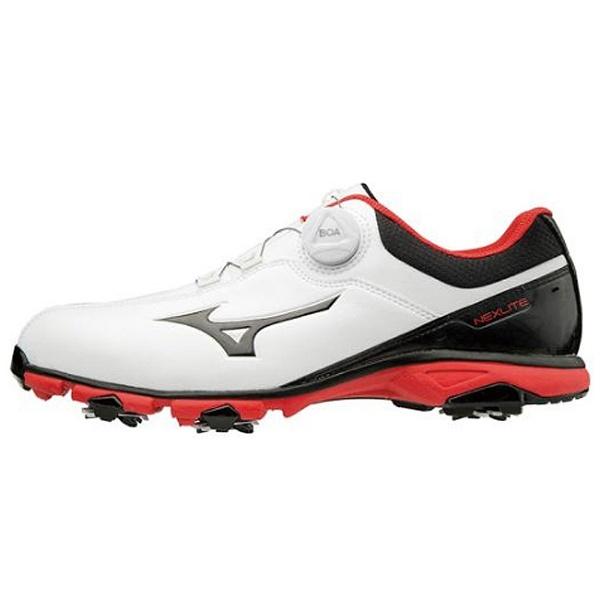 【送料無料】 ミズノ メンズ ゴルフシューズ NEXLITE 005 Boa(24.5cm/ホワイト×ブラック)51GM1810