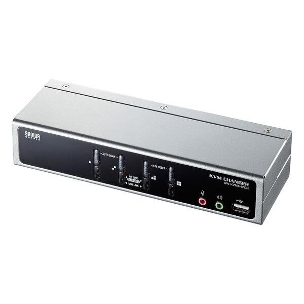【送料無料】 サンワサプライ USB・PS/2コンソール両対応パソコン自動切替器(4:1)