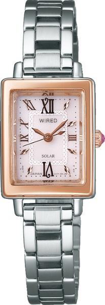 【送料無料】 アルバ [ソーラー時計]ワイアードエフ(WIREDf) 「クールヴィンテージ ソーラー 角型」 AGED100 AGED100
