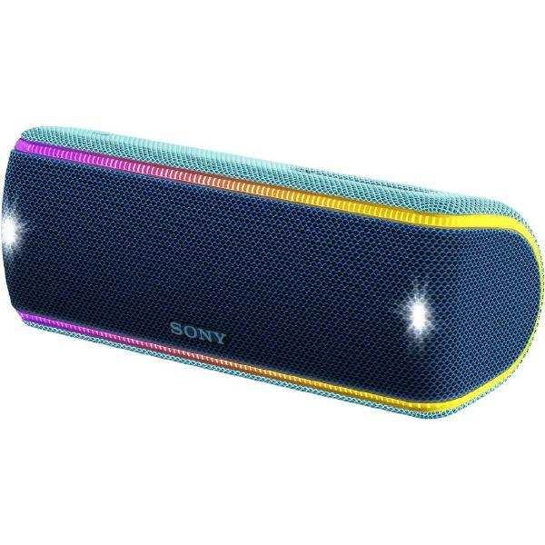【送料無料】 ソニー SONY ブルートゥーススピーカー SRS-XB31LC ブルー [Bluetooth対応 /防水]