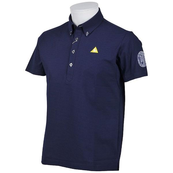 【送料無料】 ルコック メンズ ルコックゴルフ 半袖シャツ(Mサイズ/ネイビー) QGMLJA71