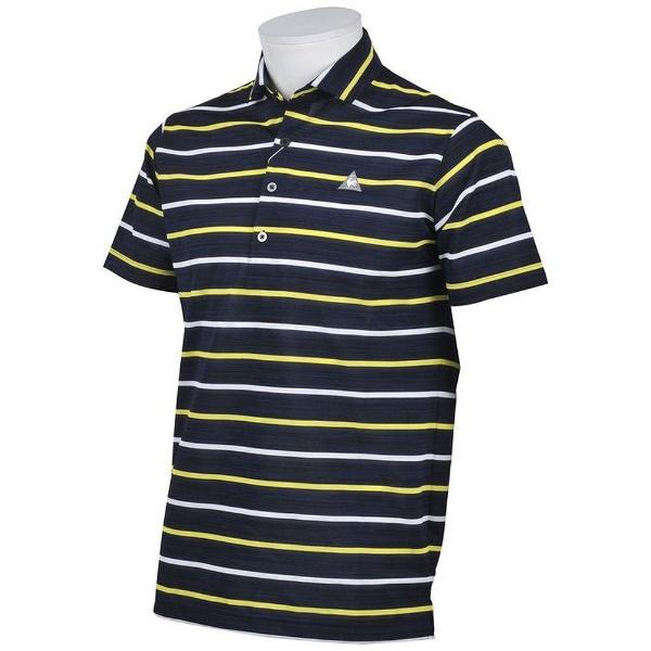 【送料無料】 ルコック メンズ ルコックゴルフ 半袖シャツ(Lサイズ/ネイビー) QGMLJA12