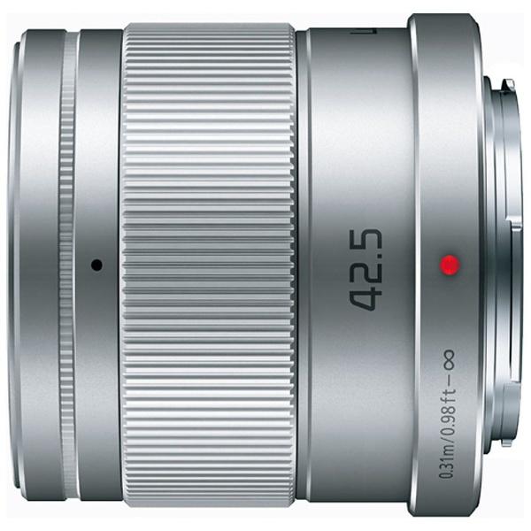 【送料無料】 パナソニック Panasonic カメラレンズ LUMIX G 42.5mm/F1.7 ASPH./POWER O.I.S.【マイクロフォーサーズマウント】(シルバー)[HHS043] panasonic