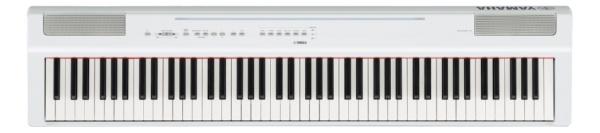 【送料無料】 ヤマハ YAMAHA 【8%OFFクーポン 8/1 00:00 ~ 8/1 23:59】ステージピアノ P-125WH ホワイト [88鍵盤]
