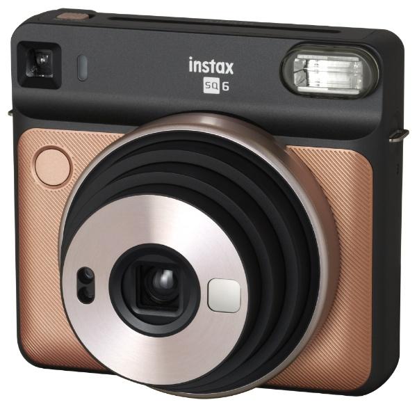 【送料無料】 フジフイルム FUJIFILM インスタントカメラ 『チェキ』 instax SQUARE SQ6 ブラッシュゴールド