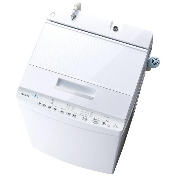 【標準設置費込み】 東芝 TOSHIBA AW-7D7(W) 全自動洗濯機 ZABOON(ザブーン) グランホワイト [洗濯7.0kg /乾燥機能無 /上開き]
