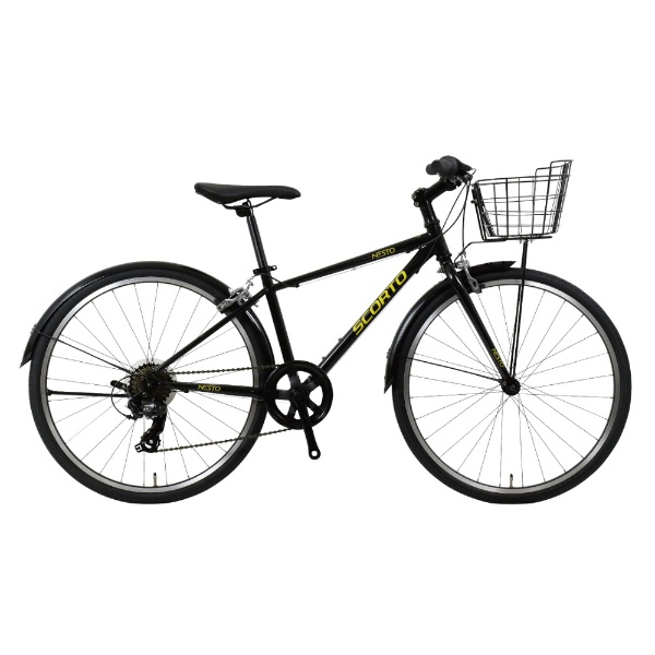 【送料無料】 NESTO 24型 子供用自転車 SCORTO Jr-K(ブラック/7段変速) NE-18-008【2018年モデル】 【代金引換配送不可】【メーカー直送・代金引換不可・時間指定・返品不可】