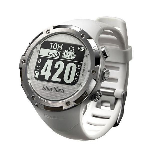 【送料無料】 ショットナビ 時計型GPSゴルフウォッチ ShotNavi(ホワイト) W1-GL-WH【国内&海外対応】