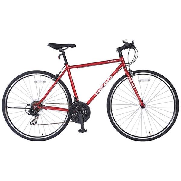 【送料無料】 HEAD 700×28C型 クロスバイク ONZA(レッド/490サイズ) CRQ-HE7021ST-490 【代金引換配送不可】【メーカー直送・代金引換不可・時間指定・返品不可】