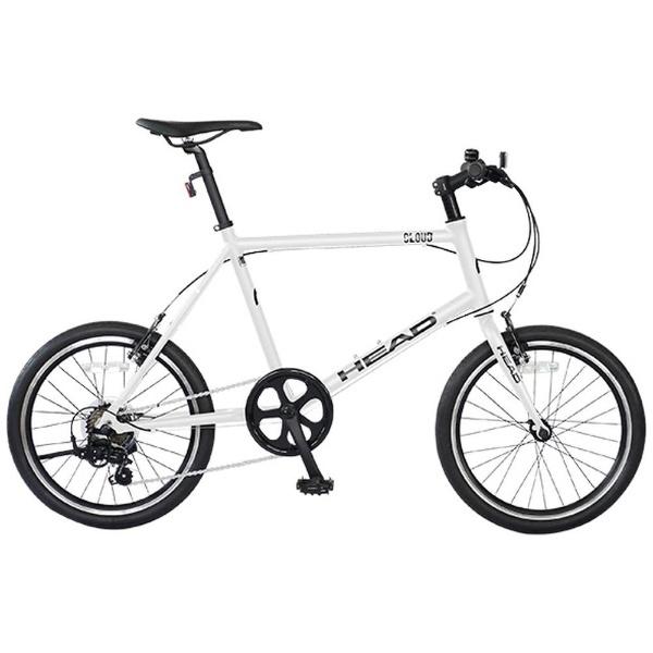 【送料無料】 HEAD 20型 ノーパンク自転車 CLOUD(マットホワイト/7段変速) CMQ-CC-HE207 【代金引換配送不可】【メーカー直送・代金引換不可・時間指定・返品不可】