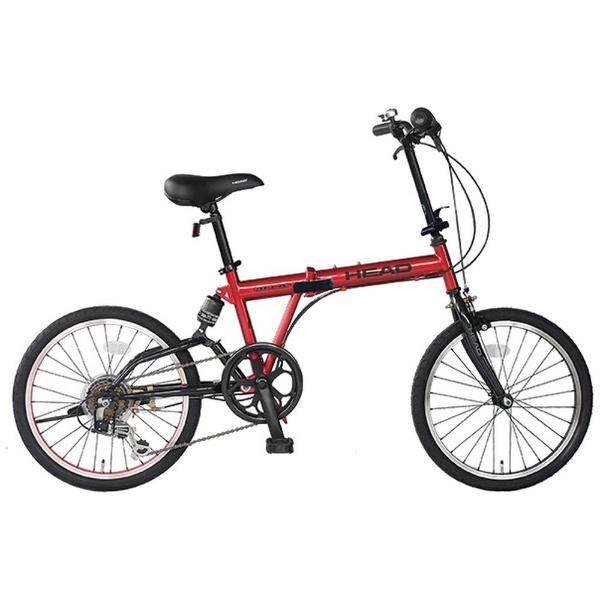 【送料無料】 HEAD 20型 折りたたみ自転車 Diesis(オペラレッド/6段変速) FDR-HE206R【リアサスペンション付き】 【代金引換配送不可】【メーカー直送・代金引換不可・時間指定・返品不可】