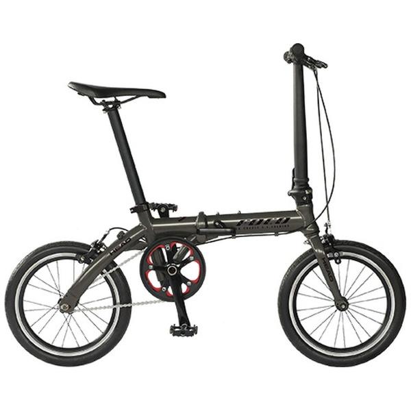 【送料無料】 HEAD 16型 ノーパンク折りたたみ自転車 FOCO(マットガンメタ/シングルシフト) FDR-CC-HE160AL 【代金引換配送不可】【メーカー直送・代金引換不可・時間指定・返品不可】
