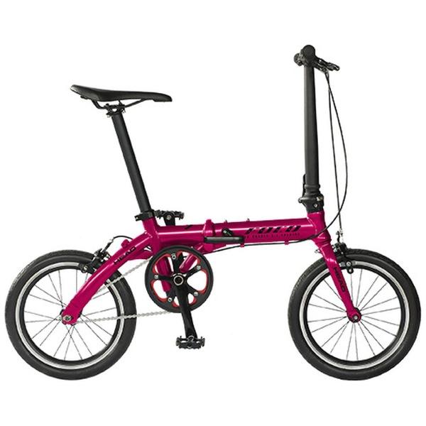 【送料無料】 HEAD 16型 ノーパンク折りたたみ自転車 FOCO(チェリーピンク/シングルシフト) FDR-CC-HE160AL 【代金引換配送不可】【メーカー直送・代金引換不可・時間指定・返品不可】