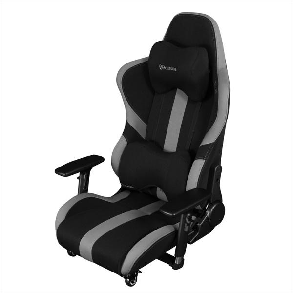 【送料無料】 バウヒュッテ Bauhutte ゲーミング座椅子 BC-LOC-950RR-BK ブラック