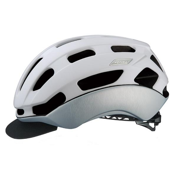 【送料無料】 OGK 自転車用ヘルメット BC-Glosbe II(マットホワイトヘアライン/L-XLサイズ:59~61cm)