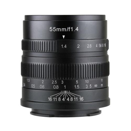 【送料無料】 七工匠 5514EB 七工匠 7artisans 55mm F1.4 ソニーE(APS-C)用 5514EB ブラック