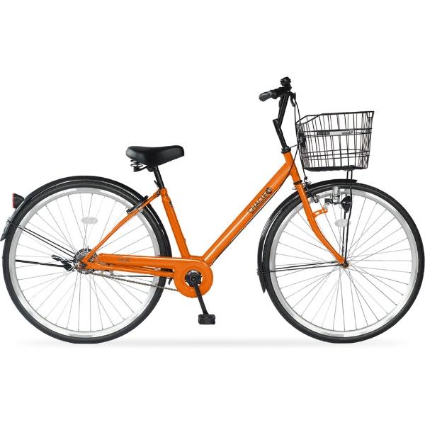 【送料無料】 チャクル 【単品購入時メーカー直送】27型 ノーパンク自転車 チャクル CITY V スタンダードモデル(オレンジ/シングルシフト) CHR-CC270V【組立商品につき返品不可】 【代金引換配送不可】