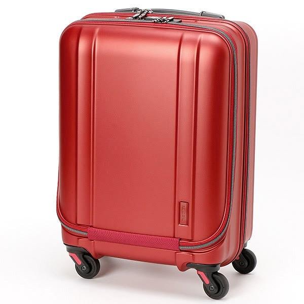 【送料無料】 ゼログラ 静音キャスター搭載の超軽量スーツケース ZER2094-46MTWI マットワイン