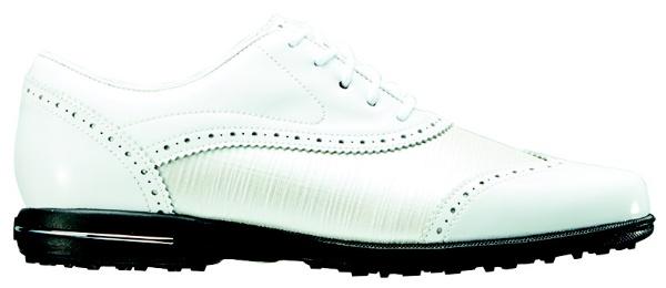 【送料無料】 フットジョイ レディース スパイクレス ゴルフシューズ Tailored Collection(23.0cm/White×Pearl Linen) #91686