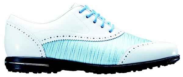 【送料無料】 フットジョイ レディース スパイクレス ゴルフシューズ Tailored Collection(23.0cm/White×Blue Linen) #91687