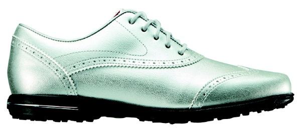 【送料無料】 フットジョイ レディース スパイクレス ゴルフシューズ Tailored Collection(23.5cm/Silver) #91689
