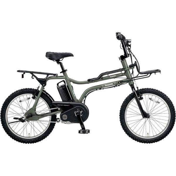 【送料無料】 パナソニック Panasonic 20型 電動アシスト自転車 イーゼット(マットオリーブ/内装3段変速) BE-ELZ032AG【2018年モデル】【組立商品につき返品不可】 【代金引換配送不可】