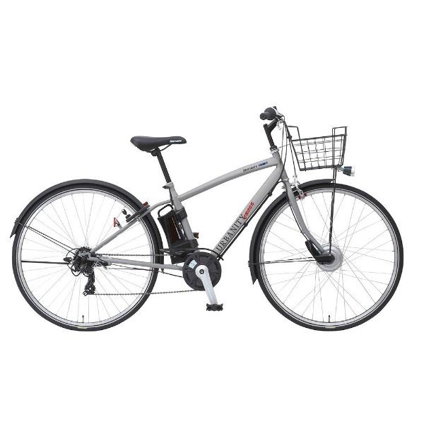 【送料無料】 丸石サイクル 27型 電動アシスト自転車 アーバニティクロスアシスト(マットライトグレー/外装7段変速)ASAP277B S99T【組立商品につき返品不可】 【代金引換配送不可】