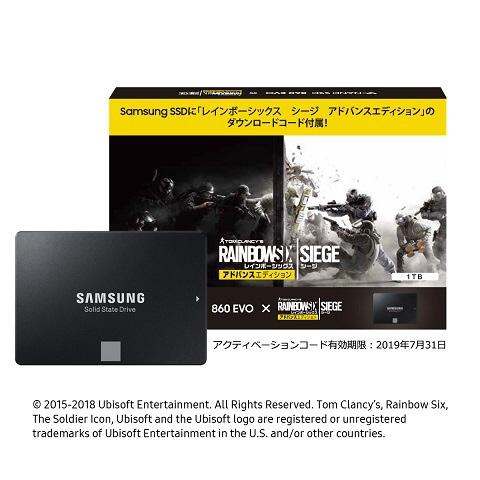 【送料無料】 SAMSUNG サムスン SSD860EVOベーシックキット1TB「レインボーシックス シージ」ダウンロード特典付き MZ-76E1T0B/R6S