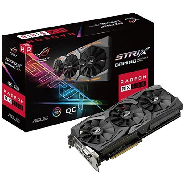 【送料無料】 ASUS エイスース グラフィックボード AMD Radeon RX 580搭載 ROG-STRIX-RX580-O8G-GAMING [8GB]