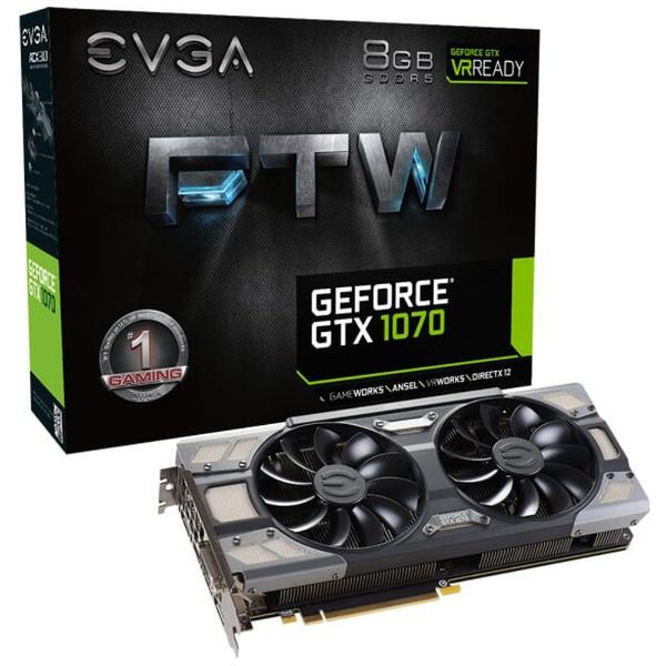【送料無料】 EVGA グラフィックボード GeForce GTX 1070 FTW GAMING 08G-P4-6276-KR [8GB /GeForce GTXシリーズ]