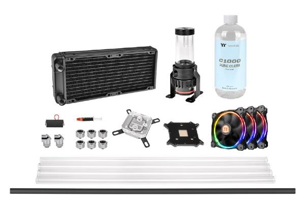 【送料無料】 THERMALTAKE Pacific M240 D5 Hard Tube RGB Water Cooling Kit