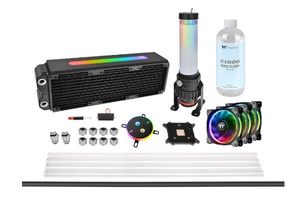 【送料無料】 THERMALTAKE Pacific M360 Plus D5 Hard Tube RGB Water Cooling Kit