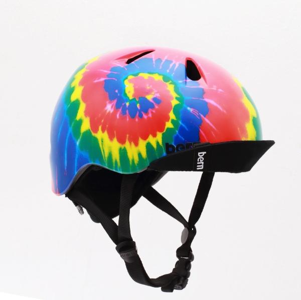 【送料無料】 BERN 子供用ヘルメット bern/NINO ALL SEASON BE-VJBTD(XS-S:48.0~51.5cm/TIE-DYE) 推奨年齢2-3歳