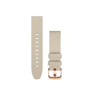【送料無料】 GARMIN QuickFitバンド 20mm Beige/RGold Leather 010-12739-68