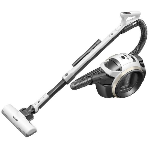 【送料無料】 シャープ SHARP EC-MS21T-W サイクロン式掃除機 ホワイト [サイクロン式]