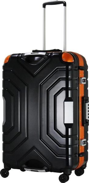 【送料無料】 エスケープ スーツケースハードフレーム B5225T-67MBK/OR ブラック [83L]