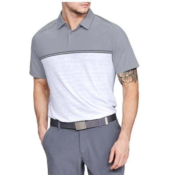 【送料無料】 アンダーアーマー メンズ ゴルフ ポロシャツ UAスレッドボーン キャリブレートポロ(MDサイズ/OC×WT×RY)1317330