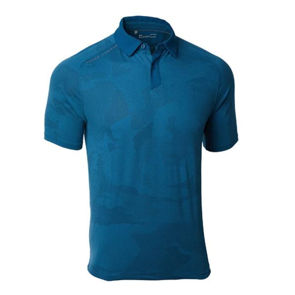 【送料無料】 アンダーアーマー メンズ ゴルフ ポロシャツ UAスレッドボーン スプロケットポロ(LGサイズ/TCT×RGY)1317331