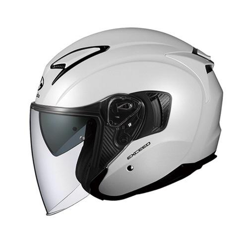 【送料無料】 OGK kabuto EXCEED オープンフェイスヘルメット パールホワイト XSサイズ (54-55cm)