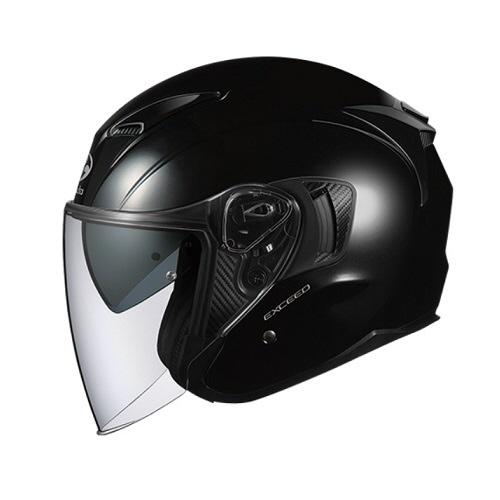 【送料無料】 OGK kabuto EXCEED オープンフェイスヘルメット ブラックメタリック Mサイズ(57-58cm)
