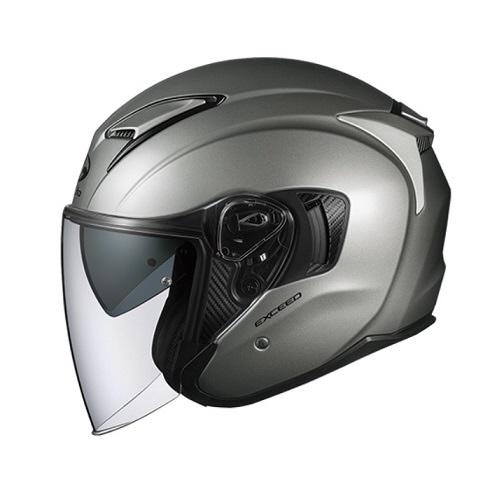 【送料無料】 OGK kabuto EXCEED オープンフェイスヘルメット クールガンメタ Sサイズ(55-56cm)