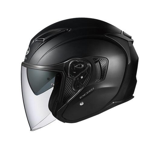 【送料無料】 OGK kabuto EXCEED オープンフェイスヘルメット フラットブラック Sサイズ(55-56cm)