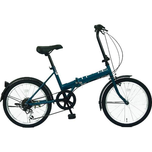 【送料無料】 サイモト自転車 20型 折りたたみ自転車 HOOH ホウオウ206(グリーン/外装6段変速)FD-B206B【組立商品につき返品不可】 【代金引換配送不可】【メーカー直送・代金引換不可・時間指定・返品不可】