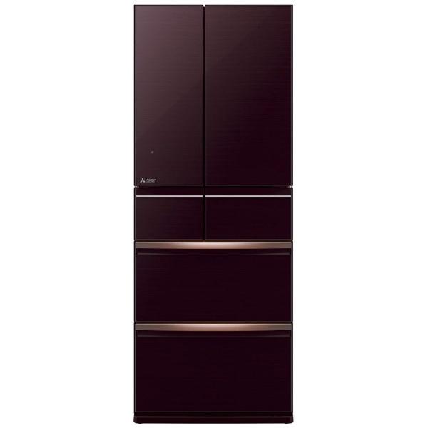 【標準設置費込み】 三菱 Mitsubishi Electric 《基本設置料金セット》MR-WX47LD-BR 冷蔵庫 クリスタルブラウン [6ドア /観音開きタイプ /470L]