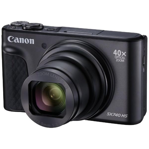 【2018年08月30日発売】 【送料無料】 キヤノン CANON コンパクトデジタルカメラ PowerShot(パワーショット) SX740 HS(ブラック)