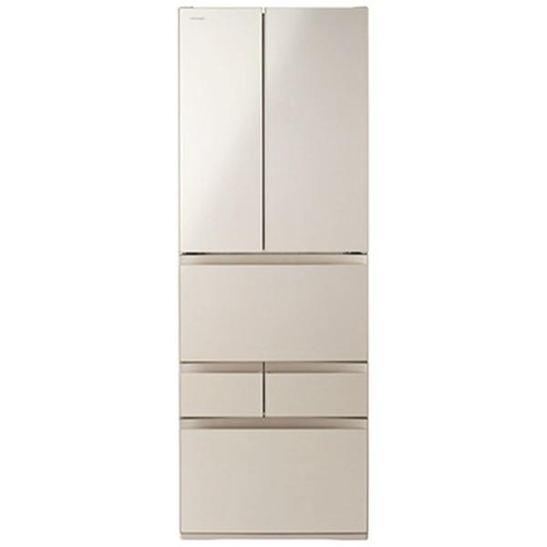 【標準設置費込み】 東芝 TOSHIBA 《基本設置料金セット》GR-P510FD-EC 冷蔵庫 べジータFDシリーズ サテンゴールド [6ドア /観音開きタイプ /509L]