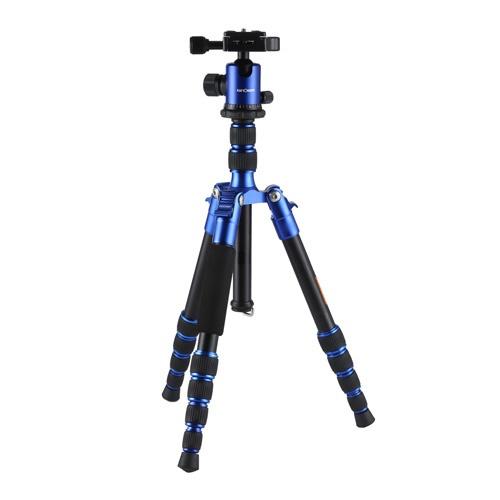 【送料無料】 K&FCONCEPT アルミ三脚 5段 KF-TM2235(BL) KF-TM2235(BL) ブルー